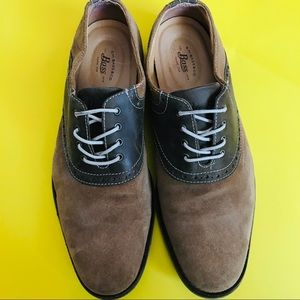 G.H Bass & Co Brown Two Tone Suede